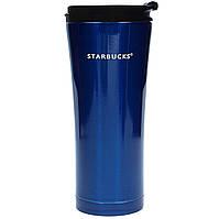 Термокружка тамблер Starbucks-3 500 мл в синем цвете, фото 1