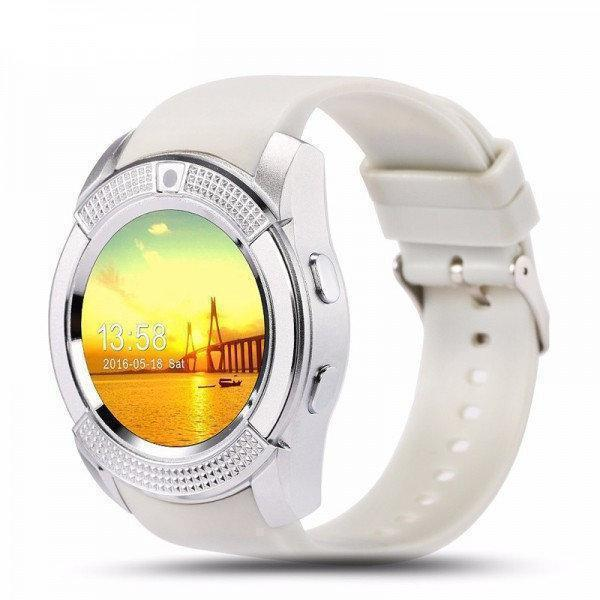 Белые умные часы Smart Watch V8