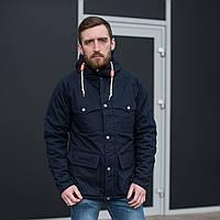 Чоловіча демісезонна куртка, темно-синього кольору