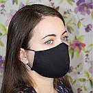 10 шт. черная маска защитная набор трехслойная, многоразовая, хлопковая, фото 6