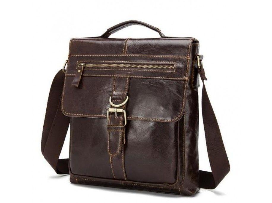 Мессенджер мужской Vintage 14629 кожаный Коричневый, Коричневый