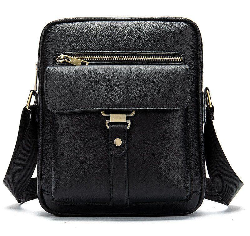 Сумка cтильная мужская Vintage 14649 Черная, Черный