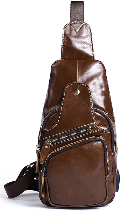 Сумка через плечо мужская Vintage 14839 Коричневая, Коричневый