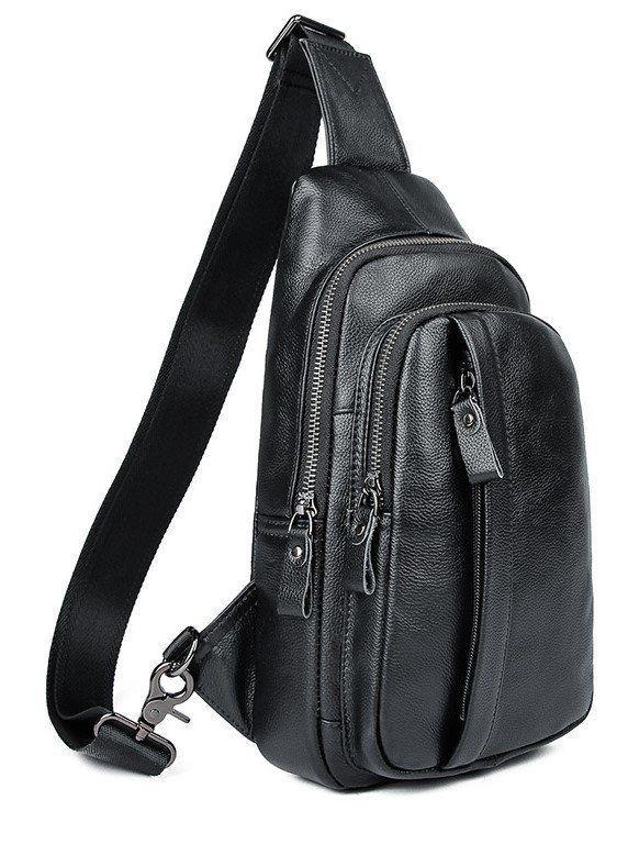 Сумка мужская через плечо Vintage 14974 Черная, Черный