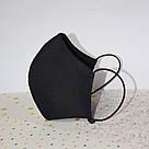 5 шт. черная маска защитная набор двухслойная, многоразовая, хлопковая, фото 3