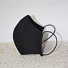 10 шт. черная маска защитная набор двухслойная, многоразовая, хлопковая, фото 3
