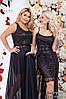 Женское вечернее платье двойка в пол с гипюром. Размер 42-52 - Фото