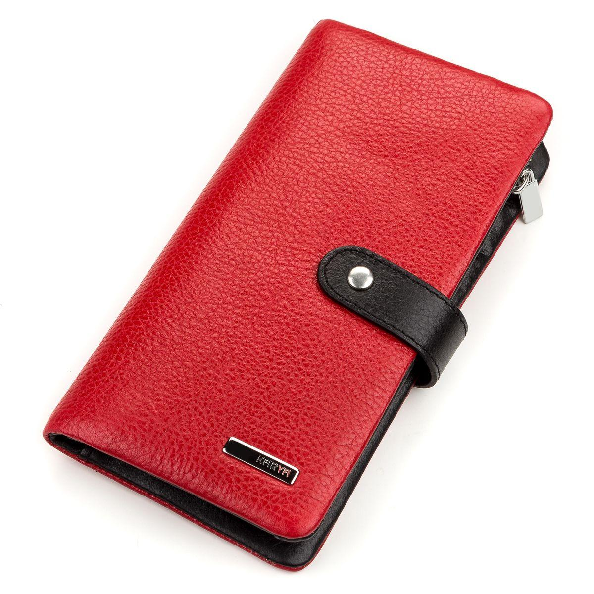 Кошелек женский KARYA 17194 кожаный Красный, Красный