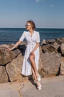 Платье летнее свободное в горох белое, чёрное, красное 42-44,44-46,46-48
