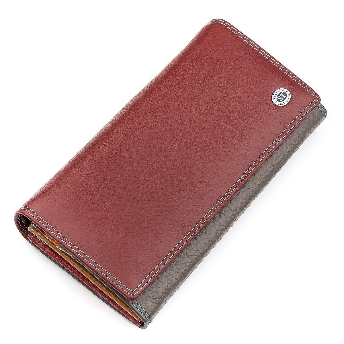 Кошелек женский ST Leather 18363 (SB634) кожа Бордовый, Бордовый
