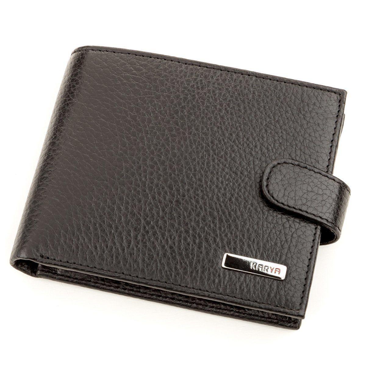 Кошелек мужской KARYA 17230 кожаный Черный, Черный