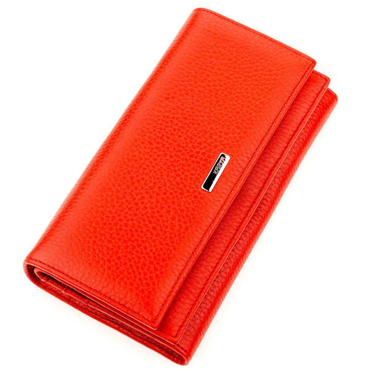 Кошелек женский KARYA 17233 кожаный Красный, Красный