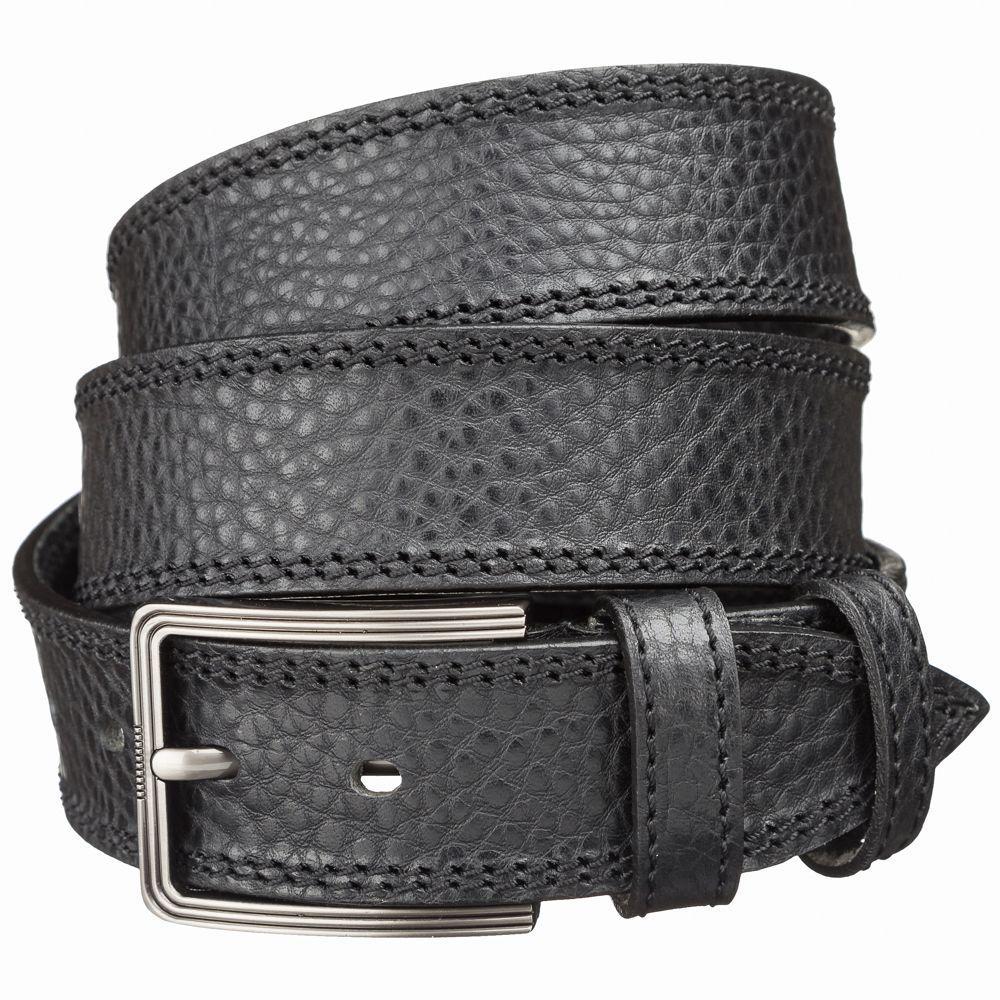Мужской кожаный ремень MAYBIK 15249 Черный, Черный