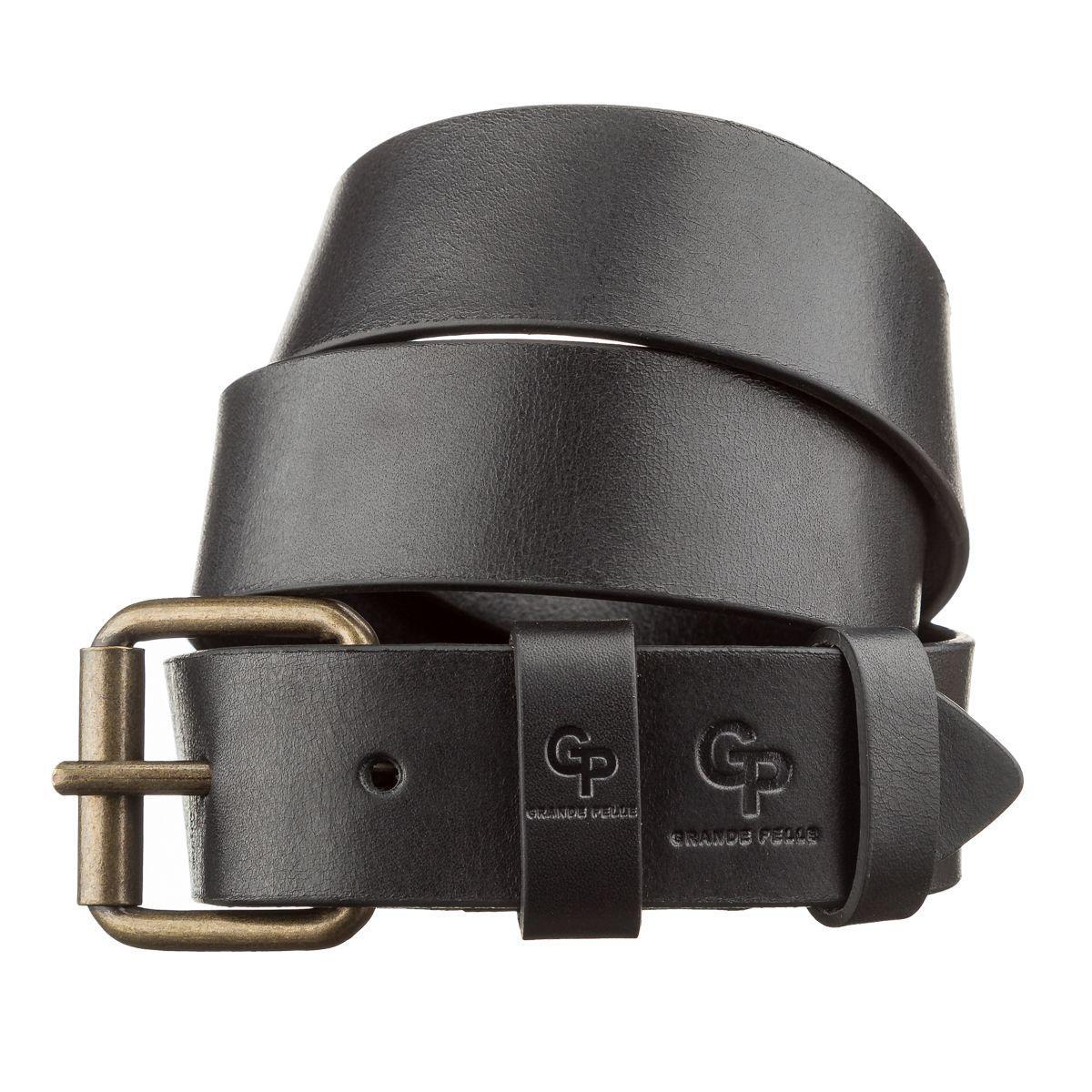 Ремень мужской GRANDE PELLE 11135 Черный, Черный