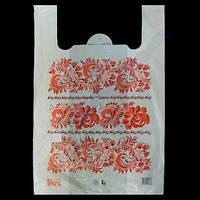 """Пакеты """"майка"""" Пакеты 37+18х58см 25мкм """"Вышиванка - цветы"""" 50 шт.0168650"""