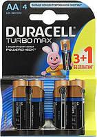 Батарейки Duracell TurboMax AA 1.5 V LR6 (3шт+1шт) Бельгия 0157287