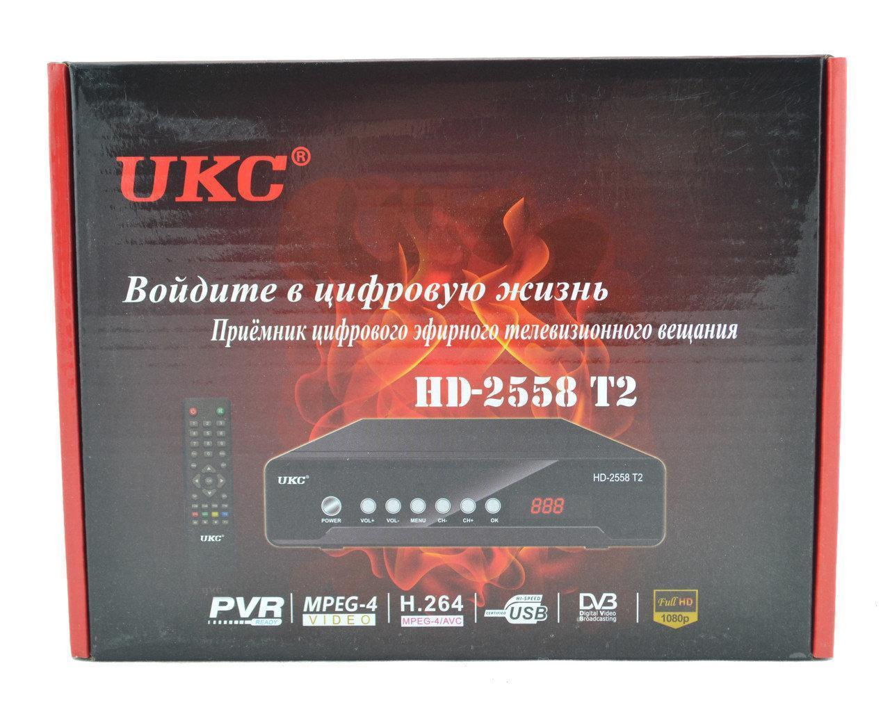 Цифровая приставка тюнер UKC DVB-T2 2558 METAL