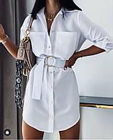 Платье летнее белый, мокко, пудра, олива 42-44,44-46