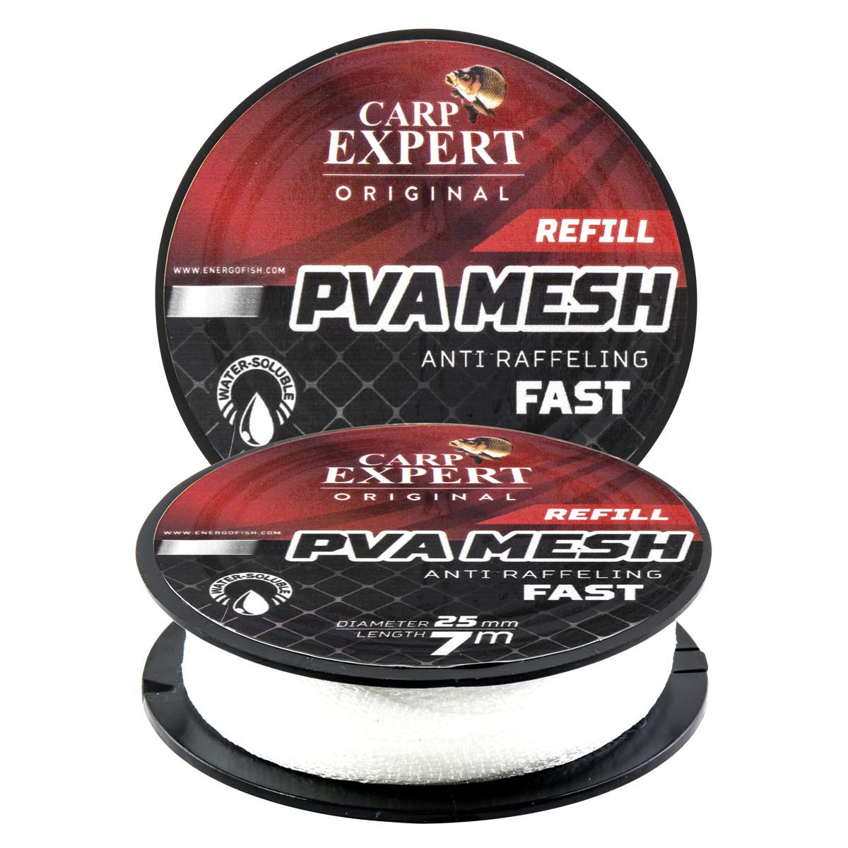 ПВА-сетка для рыбалки 7м 25мм на шпуле Energofish Carp Expert PVA Refill Mesh Anti Raffeling Fast (30141225)