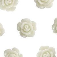 Кабошон 10мм Роза белая, фото 1