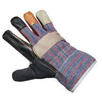 Перчатки комбинированые кожа+ хлопок 0145540, фото 1