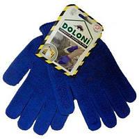 Перчатки 646 синие ладошка-нанесение ПВХ синее 2 нити х/б 60% пе40% 0145509, фото 1