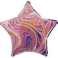 """Фольгована кулька зірка агат фіолетовий purple marble 18"""" Anagram"""
