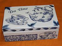 Шкатулка для чайных пакетиков Гжель