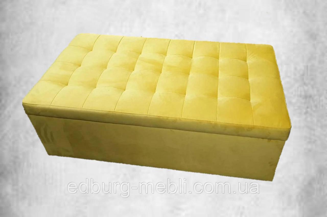 Жовтий пуф тканина антикоготь велюр 120х50