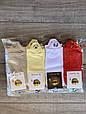 Короткі жіночі шкарпетки бавовна Kardesler з вишитими смайликами 35-40 12 шт в уп мікс 7 кольорів, фото 2