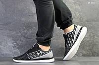 Мужские кроссовки в стиле Under Armour, сетка, черные с белым 44(28 см), последний размер
