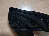 Туфли женские черные замшевые на каблуке Т49 Уценка, фото 10