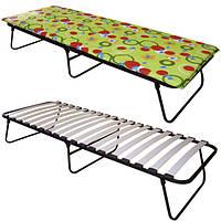 Раскладная кровать с матрасом «Алина» раскладушка на ламелях, фото 1