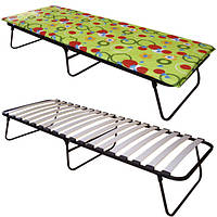 Розкладне ліжко з матрацом «Аліна» розкладачка на ламелях