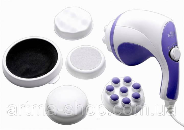 Массажер антицеллюлитный Relax and Tone Вибромассажер для тела, 5 насадок, регулятор мощности (MA-116)