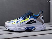 Мужские кроссовки Reebok DMX, кожа, белые с синим 46(29,5 см), последний размер