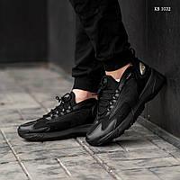 Мужские кроссовки в стиле Nike zoom 2k, кожа, пена, черные 44 (28 см)