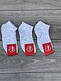 Жіночі короткі носки шкарпетки в сітку меланжеві розмір 36-39 12 шт в уп біло-сірий меланж, фото 3