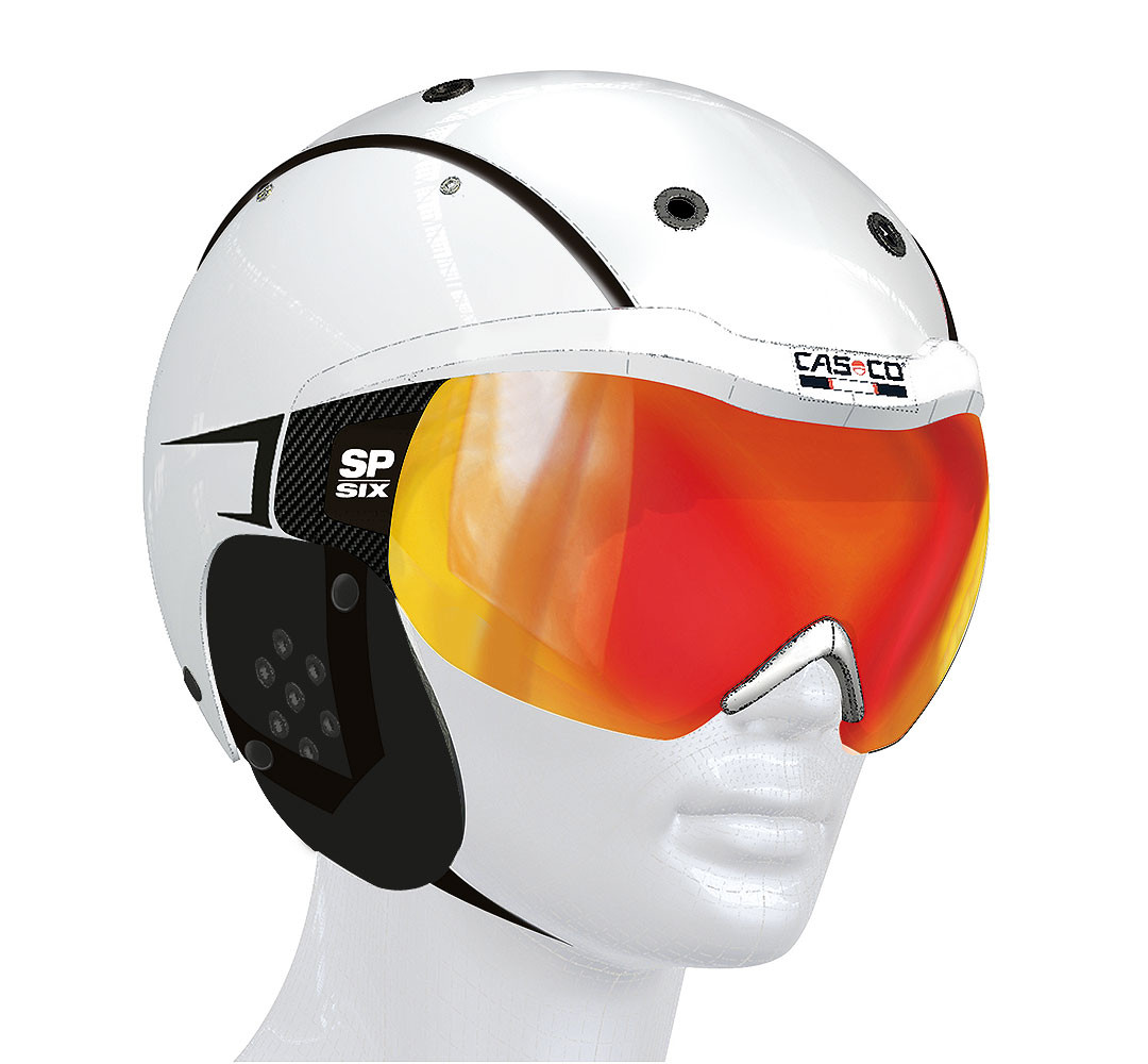 Горнолыжный шлем Casco SP-6 white Sport Vautron visor, S, L (MD)