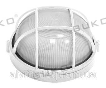 Светильник влагозащищенный 60W круглый с решёткой WATC WT311