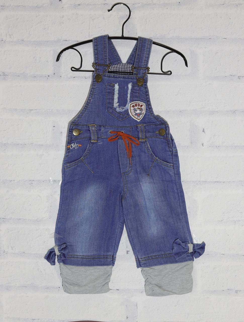 Комбинезон джинсовый для девочки,Overdo  (размер 1(86))