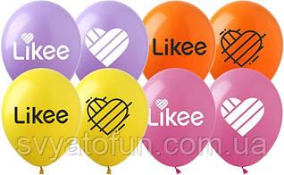 "Латексные шарики Likee 12"" 20 шт/уп Li-1 Artshow"