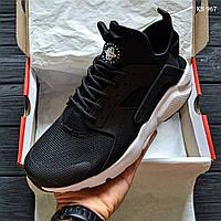 Мужские кроссовки в стиле Nike Huarache, черные 41 (26 см по стельке)