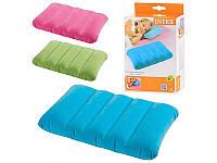 Подушка надувная водооталкивающая Intex 68676, 3 цвета