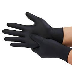 Перчатки нитриловые Кампус Коттон Клаб S 100 шт Черный (AN00073)
