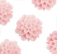 Кабошон 20 мм Хризантема светло розовая, фото 1