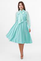 GLEM мятное платье с длинными рукавами Аля-1д/р, фото 1