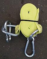 Трос буксировочный 2т 4,5м карабин, желтый