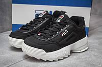 Женские кроссовки в стиле Fila Disruptor 2, черные 37(23,5 см), последний размер