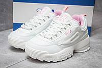 Женские кроссовки в стиле Fila Disruptor 2, белые 40(25 см), последний размер